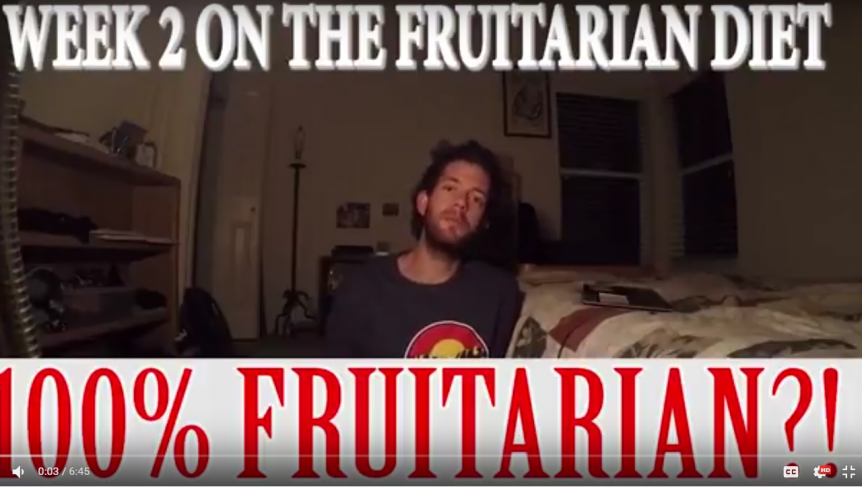 becoming a fruitarian week 2