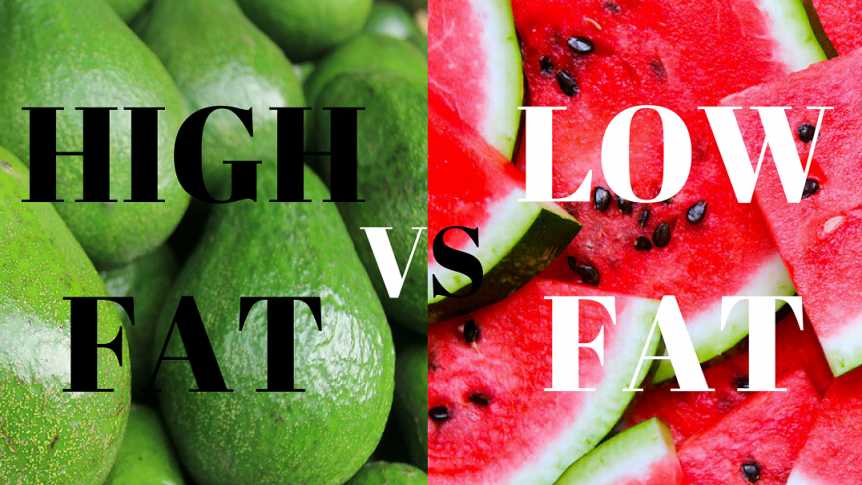 high fat raw vegan vs low fat raw vegan